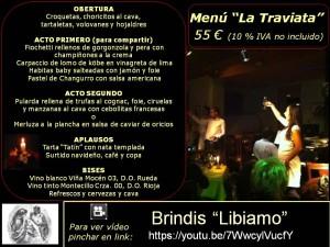 Menú La Traviata 55 €