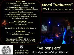 Menú Nabucco 45 €