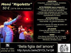 Menú Rigoletto 50 €