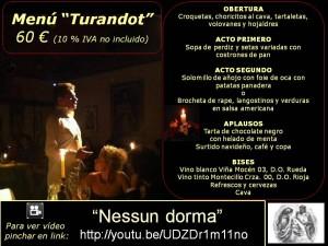 Menú Turandot 60 €