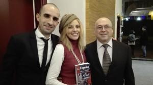 ONCE 14-01-16 Yolanda Iscar con Carlos y José Glez Cuevas