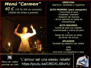 Menú Carmen 40 €