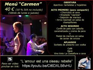 Menús grupos (2017) Carmen 40 €