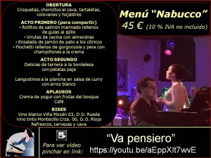 Menús grupos (2017) Nabucco 45 €
