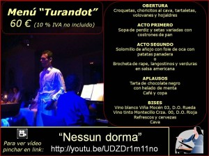 Menús grupos (2017) Turandot 60 €